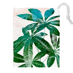 Pachira Leaves  Drawstring Pouches (xxl) by DanaeStudio
