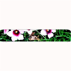 Pink Flowers Over A Green Grass Small Bar Mats