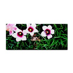 Pink Flowers Over A Green Grass Cosmetic Storage Cases