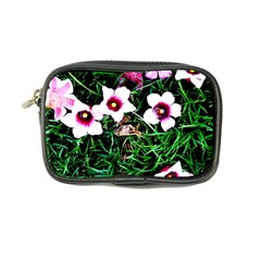 Pink Flowers Over A Green Grass Coin Purse
