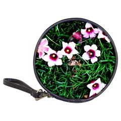 Pink Flowers Over A Green Grass Classic 20 Cd Wallets