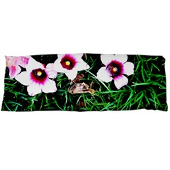 Pink Flowers Over A Green Grass Body Pillow Case Dakimakura (two Sides)