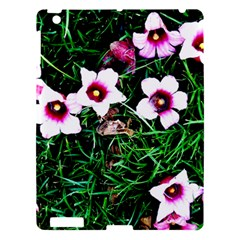 Pink Flowers Over A Green Grass Apple Ipad 3/4 Hardshell Case
