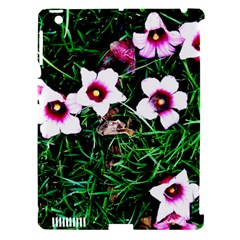 Pink Flowers Over A Green Grass Apple Ipad 3/4 Hardshell Case (compatible With Smart Cover)