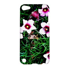 Pink Flowers Over A Green Grass Apple Ipod Touch 5 Hardshell Case