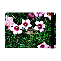 Pink Flowers Over A Green Grass Apple Ipad Mini Flip Case