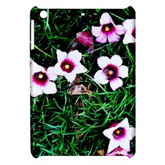 Pink Flowers Over A Green Grass Apple Ipad Mini Hardshell Case