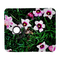 Pink Flowers Over A Green Grass Galaxy S3 (flip/folio) by DanaeStudio