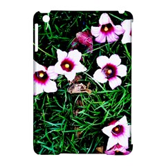 Pink Flowers Over A Green Grass Apple Ipad Mini Hardshell Case (compatible With Smart Cover)