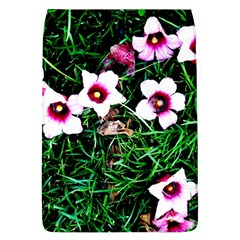 Pink Flowers Over A Green Grass Flap Covers (l)