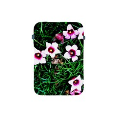 Pink Flowers Over A Green Grass Apple Ipad Mini Protective Soft Cases