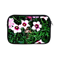 Pink Flowers Over A Green Grass Apple Ipad Mini Zipper Cases