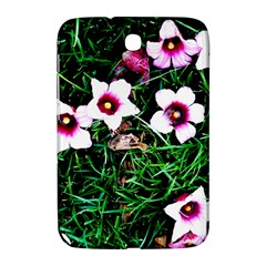 Pink Flowers Over A Green Grass Samsung Galaxy Note 8 0 N5100 Hardshell Case