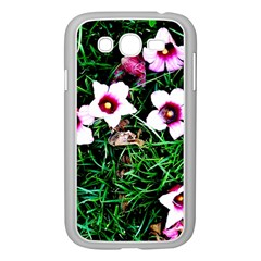 Pink Flowers Over A Green Grass Samsung Galaxy Grand Duos I9082 Case (white)