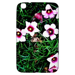 Pink Flowers Over A Green Grass Samsung Galaxy Tab 3 (8 ) T3100 Hardshell Case