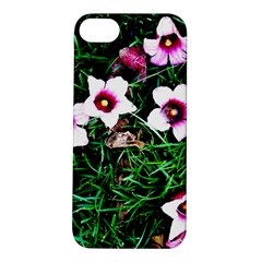 Pink Flowers Over A Green Grass Apple Iphone 5s/ Se Hardshell Case