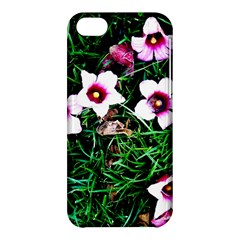 Pink Flowers Over A Green Grass Apple Iphone 5c Hardshell Case