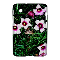 Pink Flowers Over A Green Grass Samsung Galaxy Tab 2 (7 ) P3100 Hardshell Case