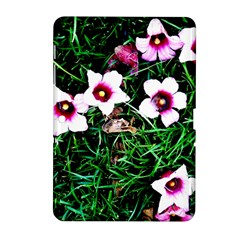 Pink Flowers Over A Green Grass Samsung Galaxy Tab 2 (10 1 ) P5100 Hardshell Case