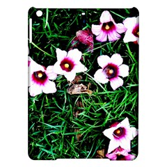 Pink Flowers Over A Green Grass Ipad Air Hardshell Cases