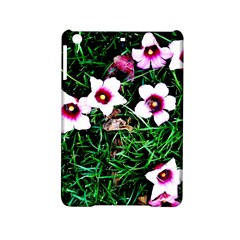 Pink Flowers Over A Green Grass Ipad Mini 2 Hardshell Cases