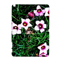 Pink Flowers Over A Green Grass Galaxy Note 1 by DanaeStudio