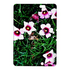 Pink Flowers Over A Green Grass Kindle Fire Hdx 8 9  Hardshell Case by DanaeStudio