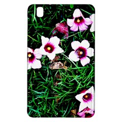 Pink Flowers Over A Green Grass Samsung Galaxy Tab Pro 8 4 Hardshell Case