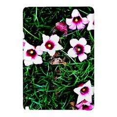 Pink Flowers Over A Green Grass Samsung Galaxy Tab Pro 12 2 Hardshell Case