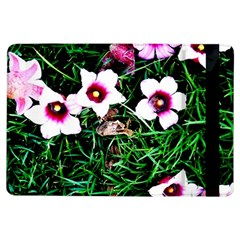 Pink Flowers Over A Green Grass Ipad Air Flip