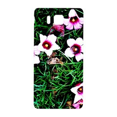 Pink Flowers Over A Green Grass Samsung Galaxy Alpha Hardshell Back Case by DanaeStudio
