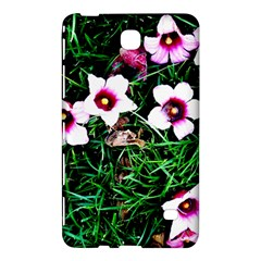 Pink Flowers Over A Green Grass Samsung Galaxy Tab 4 (7 ) Hardshell Case