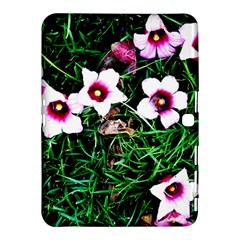Pink Flowers Over A Green Grass Samsung Galaxy Tab 4 (10 1 ) Hardshell Case