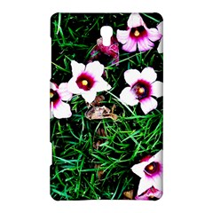 Pink Flowers Over A Green Grass Samsung Galaxy Tab S (8 4 ) Hardshell Case