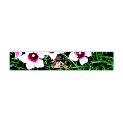 Pink Flowers Over A Green Grass Flano Scarf (mini)