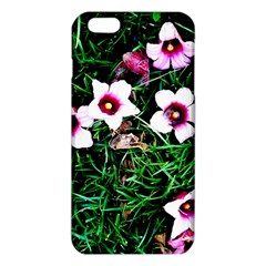 Pink Flowers Over A Green Grass Iphone 6 Plus/6s Plus Tpu Case
