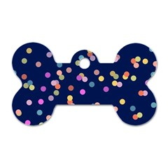 Playful Confetti Dog Tag Bone (two Sides) by DanaeStudio