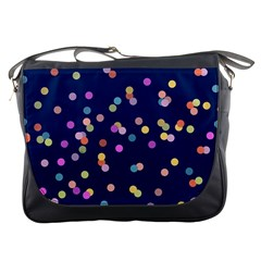 Playful Confetti Messenger Bags