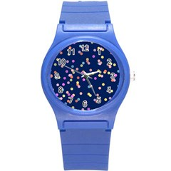Playful Confetti Round Plastic Sport Watch (s)