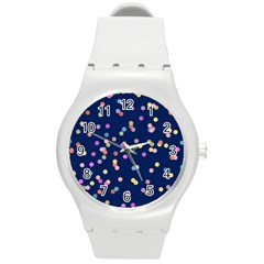 Playful Confetti Round Plastic Sport Watch (m)