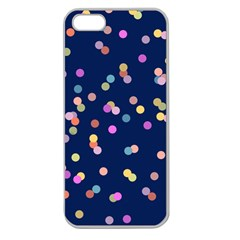 Playful Confetti Apple Seamless Iphone 5 Case (clear)