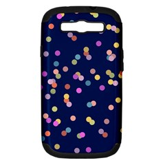 Playful Confetti Samsung Galaxy S Iii Hardshell Case (pc+silicone) by DanaeStudio