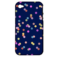 Playful Confetti Apple Iphone 4/4s Hardshell Case (pc+silicone)