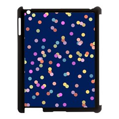 Playful Confetti Apple Ipad 3/4 Case (black)