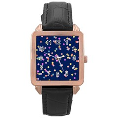 Playful Confetti Rose Gold Leather Watch