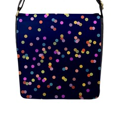 Playful Confetti Flap Messenger Bag (l)  by DanaeStudio