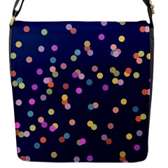Playful Confetti Flap Messenger Bag (s) by DanaeStudio