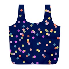 Playful Confetti Full Print Recycle Bags (l)