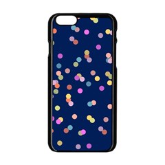 Playful Confetti Apple Iphone 6/6s Black Enamel Case