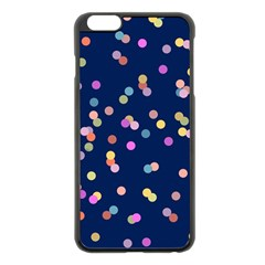 Playful Confetti Apple Iphone 6 Plus/6s Plus Black Enamel Case